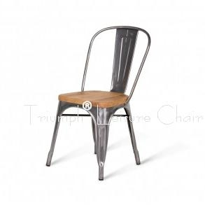 Marais Metal Tolix Chair With Wooden Seat Antique Steel Tolix Chair High Back A Vg 1001w