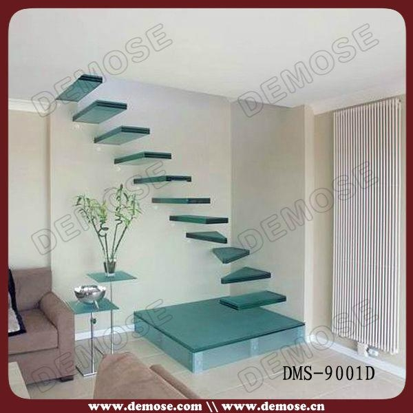 Glass Stair Treads Floating Stairs 1 ...
