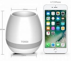 Bluetooth Flowerpot Night Light Smart Touch Music Plant Lamp Flowerpot