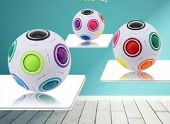 Colorful Magic EDC Intelligence Puzzle Magic Football Style Magic Cube