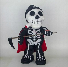 New arrival inductive dancing halloween skeleton halloween gift