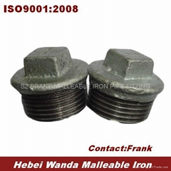 Galvanized Malleable Iron Pipe Fitting Plug