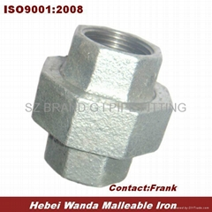 BS NPT Thread Galvanized Malleable Iron Pipe Fitting Union