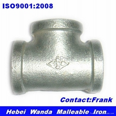 Galvanized iron pipe fitting tee equal