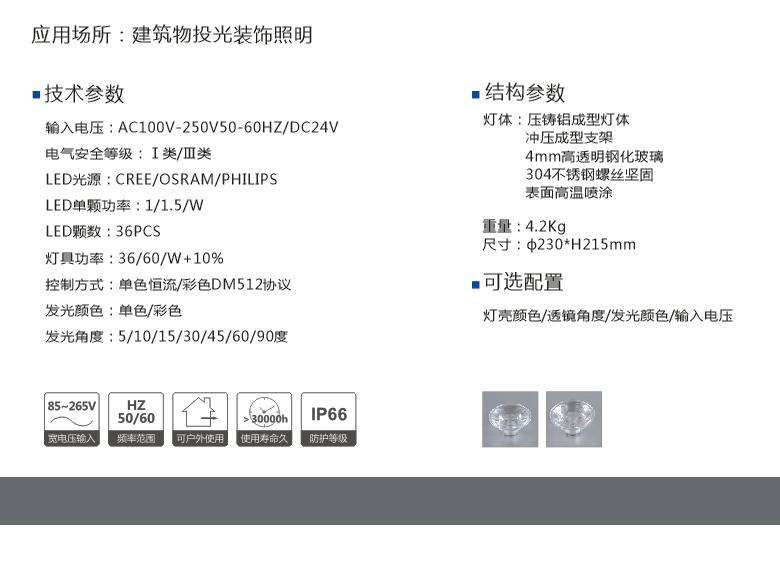 防水透氣18WLED投光燈 2