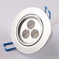 LED  7W Round Crystal Ceiling Lights