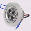 LED  3x1W Round Crystal Ceiling Lights