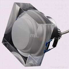3x1W Square Crystal LED Ceiling Lights