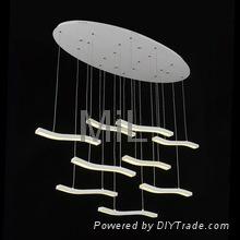 High quality decorative hanging 2014 LED core modern pendant light 3