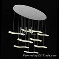 High quality decorative hanging 2014 LED core modern pendant light