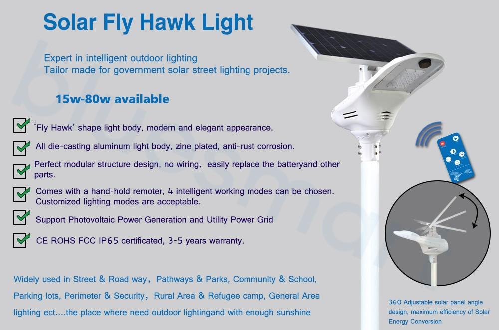MiL FLY HAWK solar street light 3