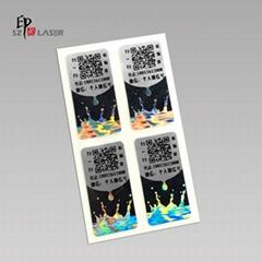 Customized anti-fake hologram barcode