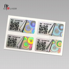 Advanced quality custom hologram security anti tamper stickers