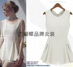 厂家小额批发欧美风格雪纺连衣裙连体裤两件女装