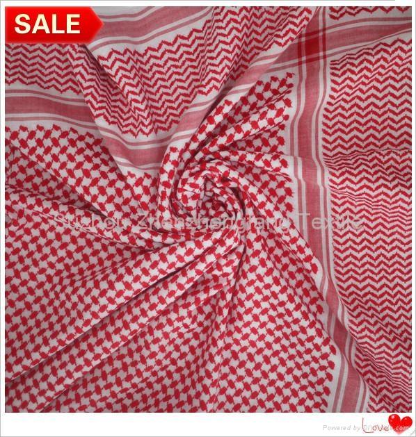 穆斯林阿拉伯全棉紅白男士頭巾 1