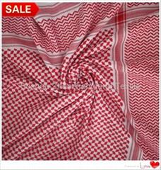 穆斯林阿拉伯全棉红白男士头巾