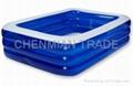 Transparent Blue Rectangular Swimming