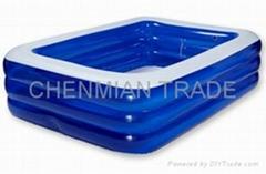Transparent Blue Rectangular Swimming Pool(CM-POOL005)