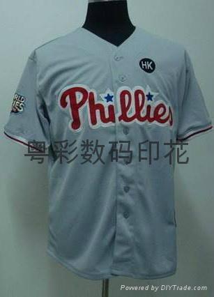 Group sports wear digital printing baseball clothing heat transfer printing 5