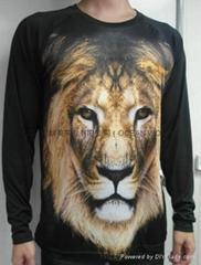 Digital printing 3d T-shirt Men's T-shirt sublimation T-shirt