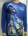 数码印花订制 数码3D印花 男士长袖T恤 数码3D T恤 4
