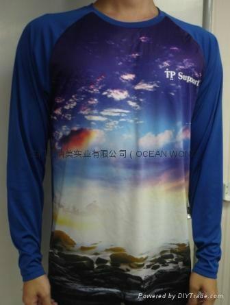 数码印花订制 数码3D印花 男士长袖T恤 数码3D T恤 5