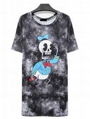 2014 new summer dress fashion digital printing bag arm dress brand cotton dress