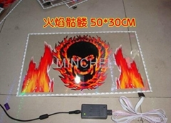el flash car sticker  (factory price, good quality, timely delivery)