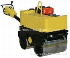 800kg Walk behind Double Drum Vibratory Roller Compactor