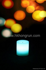 colour changing votive candle with 4 hours timer