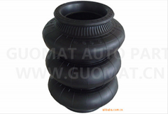 Three layers convoluted industrial equipment rubber air suspension spring