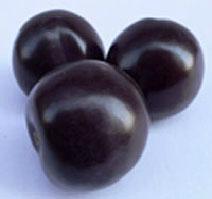 Artificial fruit black plum as toys