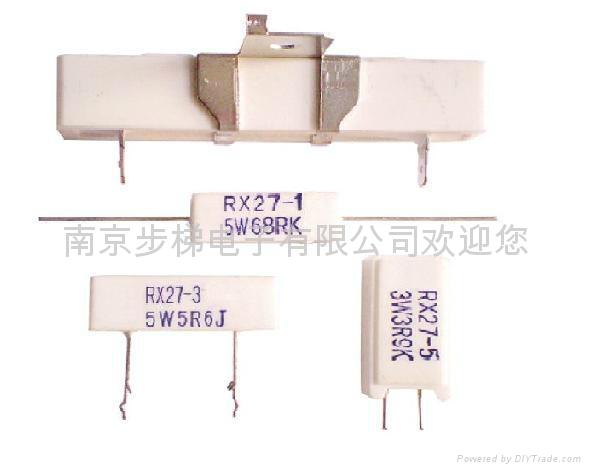 瓷壳水泥线绕电阻器RX27 1