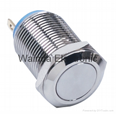 12mm metal push button switch with 2 pins momentary on