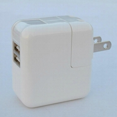 Dual USB charger with China, Japan & US plugs