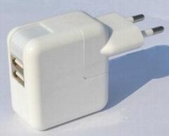 雙USB充電器附歐式插頭