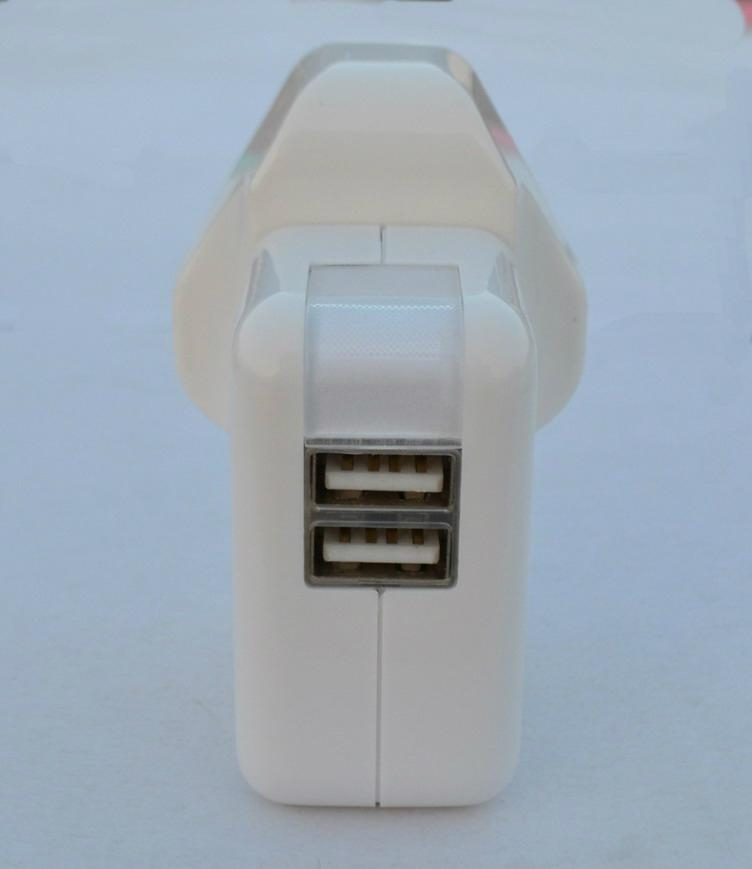 Dual USB charger with UK plug 3