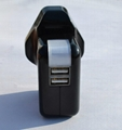 双USB充电器带英式插头(黑色) 3