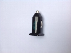 Single USB car charger (in black)