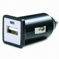 Single USB car charger (in black) 5