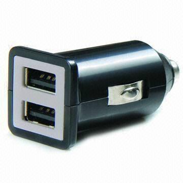 双USB车载充电器(黑色) 1