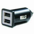 Dual USB car charger (in black) 1