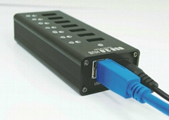 USB3.0七口HUB集线器 GU3037C