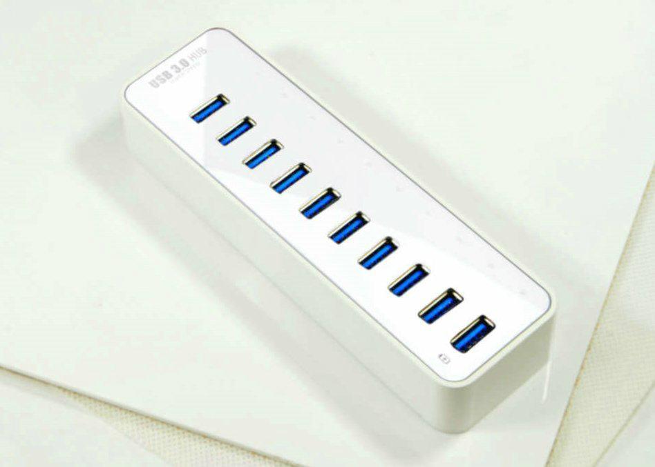 USB3.0 十口HUB集線器 GU3038A 1