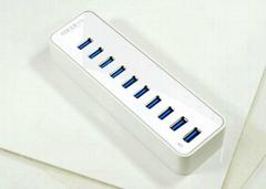 USB3.0 十口HUB集線器 GU3038A