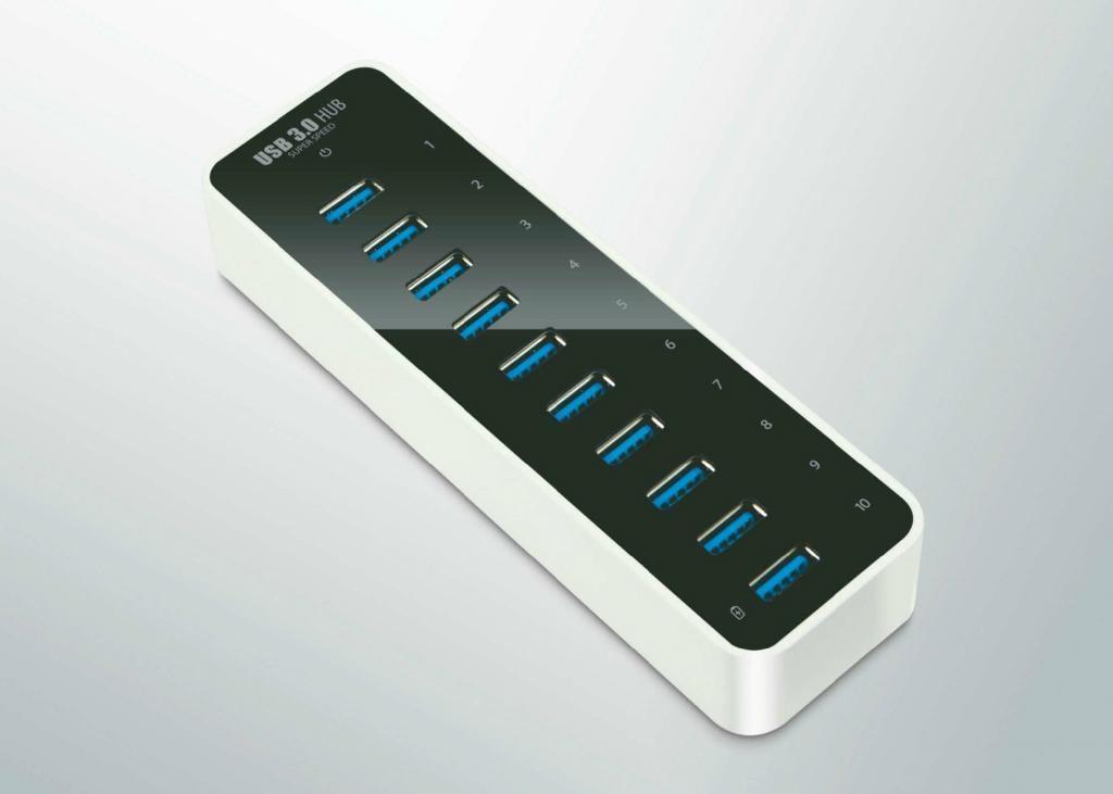 USB3.0 十口HUB集線器 GU3038A 2