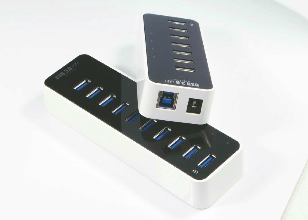 USB3.0 十口HUB集線器 GU3038A 3