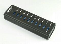 USB3.0 十口HUB集線器 GU3038B