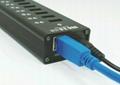 USB3.0 十口HUB集线器 GU3038B 3