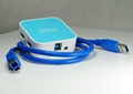 USB3.0 四口集線器 GC0012B  3